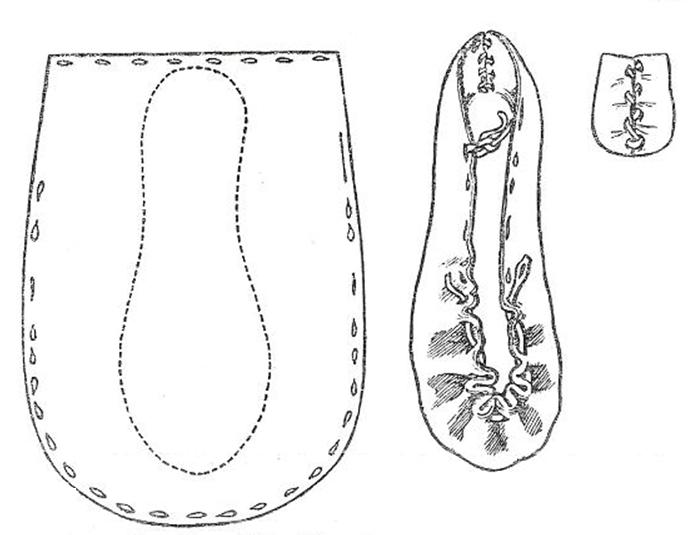 Fig. 9. Shoe : Type 4. National Museum 1945 : 360. Ballyhagan, Co. Kildare.