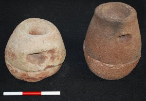 Two complete quernstones found in a pit.