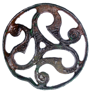 View of the front of the open work disc found near Scunthorpe.