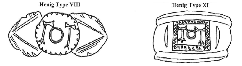Types of finger rings inscribed with 'TOT'.